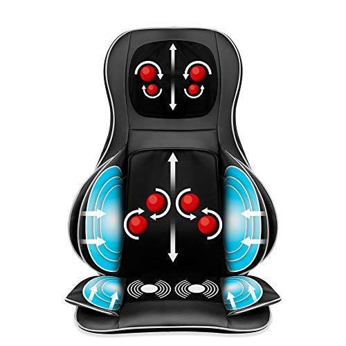 Best Choice Products Air Compression Shiatsu Neck & Back Massager Seat Chair Pad Massage Cushion, 2D/3D Kneading w/Heat