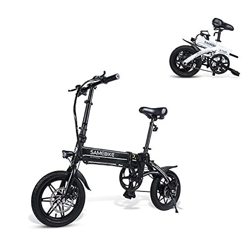 SAMEBIKE YINYU14 vélo électrique 250W 36V 7.5AH Batterie au Lithium Ultra-léger 14 Pouces vélo électrique Pliant pour Adultes (Noir)