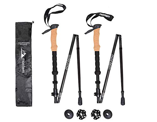 Montem Folding Collapsible 3K Carbon Fiber Hiking Poles