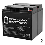 Mighty Max Battery ML18-12 - 12V 18AH Replacement UPS Battery for Power Patrol SLA1116-2 Pack Brand Product
