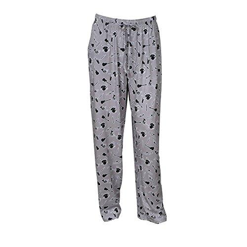 David Carey, Inc. Unisex Adult Musical Instruments Lounge Pants - Elastic Drawstring and Pockets - Large Gray