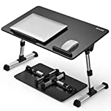 BESIGN [Large Size] Adjustable Latop Table, Portable Standing Bed Desk, Foldable Sofa Breakfast Tray, Notebook Computer Stand for Reading and Writing – Black