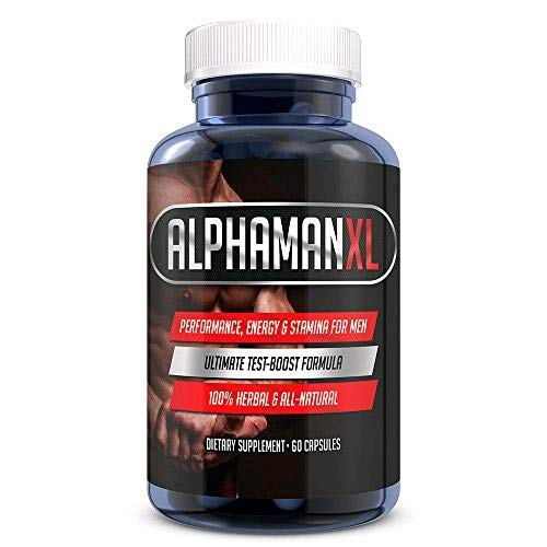 AlphaMAN XL Male Pills | - Enlargement Booster Increases Energy, Mood & Endurance with Muira Puama | Best Performance Supplement for Men - 1 Month Supply, 60 Capsules