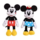 Minnie Mouse Classic Kissing Mickey & Minnie Plush