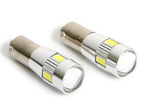輸入車 12V BAX9S H6W LED ポジション キャンセラー内蔵 5630SMD 4発+CREE5W 1発 2個/1セット
