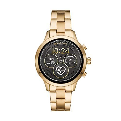 Michael Kors Smartwatch mit Wear OS by Google mit Lautsprecher, Herzfrequenzmesser, GPS, NFC und Smartphone Benachrichtigungen