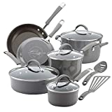 Rachael Ray Cucina Nonstick Cookware Pots and Pans Set, 12 Piece, Sea...