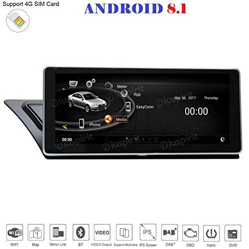 ANDROID 8.1 4G LTE GPS USB DAB+ MirrorLink Bluetooth 10.25 pollici 2GB RAM 32GB ROM navigatore compatibile con Audi A4/A5/S5/RS4/RS5/8K/B8/8T/4L 2009-2016 MMI 3G