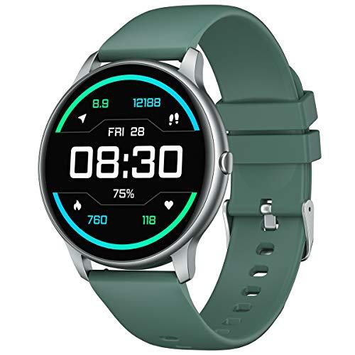 YAMAY Smartwatch Uomo Donna Orologio Fitness Cardiofrequenzimetro da Polso Smart Watch Activity Tracker Contapassi Conta Calorie Cronometro Centinaia di Quadranti Impermeabile IP68 per iPhone Android