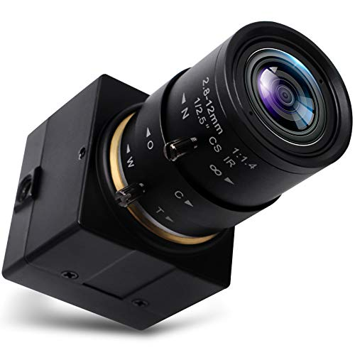 Svpro 5X Optischer Zoom Webcam Full HD 1080P USB Kamera 2,8-12 mm Objektiv Manueller Fokus USB mit Kamera High Frame 100pfs Metall Mini Camcoder Home Security Kamera, Laufwerk Kostenlose UVC Kamera