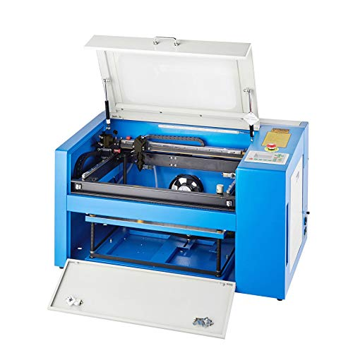 """Orion Motor Tech 50W Co2 Laser Engraving Machine 20"""" x 12"""" Engraver Table w/Rotary Cutter and USB Port, Laser Cutting Machine for Glass Wood Stone Plastic Etc. for Home and Business with Software"""