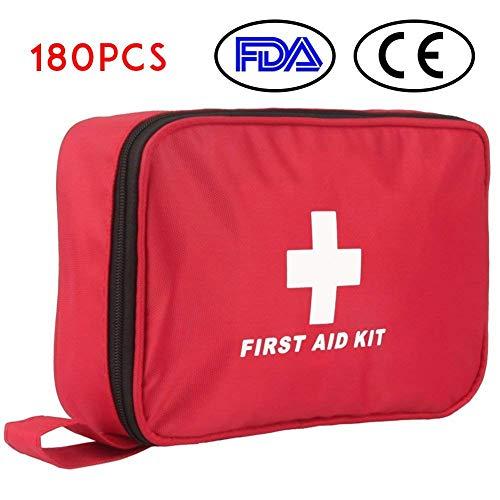 Botiquín de Primeros Auxilios de 180 Piezas WEINAS® Kit de Primeros...