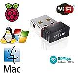 TB® Ralink 5370 USB Wifi Dongle USB 2.0 Wireless 802.11n USB Wifi Adapter Compatible For Raspberry Pi,Raspberry Pi BIOS, Windows 2000 / XP / VISTA / Win7/ Win 8 / Win 10 / MAC/ Linux 2.4 or Above