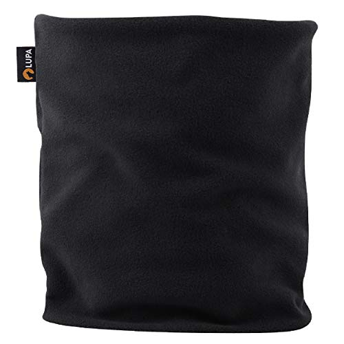 LUPA Canadian Handmade Unisex Double-Layer Fleece Neck Warmer (Black)
