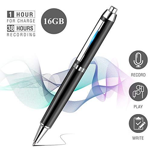 Penna Registratore Vocale, innislink 16 GB Registratore Vocale Portatile Voice Recorder Digital con...