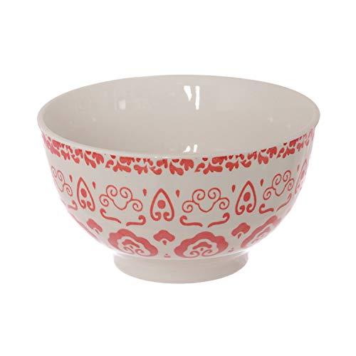 Piatto ciotola Capri Rosso in stoneware, da 14 cm Rosso
