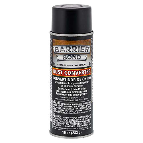 Barrier Bond - Rust Off - Rust-Converter Coating - 10-Ounce Aerosol Can of Premium Rust Converting Coating - Anti-Rust Protection for Underbody Rustpoofing - Converts Rust to an Inert Black Barrier