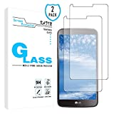 KATIN LG Stylo 3 Screen Protector - [2-Pack] Tempered Glass for LG Stylo 3 Screen Protector Anti-Scratch, Bubble Free with Lifetime Replacement Warranty