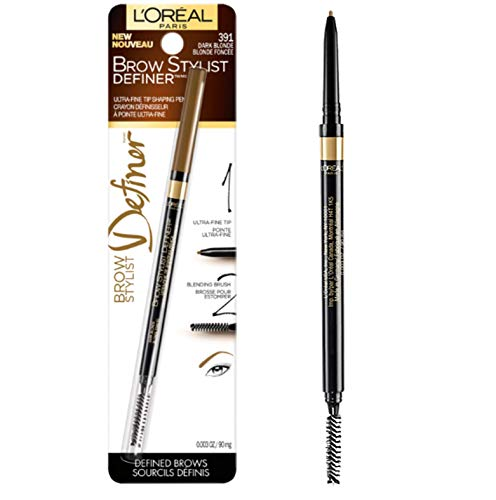 L'Oreal Paris Makeup Brow Stylist Definer Waterproof Eyebrow Pencil, Ultra-Fine Mechanical Pencil, Draws Tiny Brow Hairs & Fills in Sparse Areas & Gaps, Dark Blonde, 0.003 Ounce (Pack of 1)