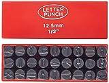 Mannesmann Schlagbuchstaben, 12 mm DIN 1451 , M 244-12, schwarz/rot