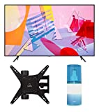 Samsung QN55Q60TA 55' Ultra High Definition 4K QLED Quantum HDR Smart TV with a Walts TV Medium Full Motion Mount for 32'-65' Compatible TV's and Walts HDTV Screen Cleaner Kit (2020)