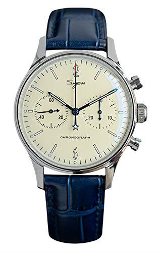 Seagull Sugess ST1901 Chronograph, 40 mm, elfenbeinfarben, 1963, Glashütte, BNIB