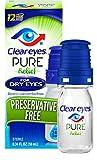 Clear Eyes | Pure Relief | Preservative Free Eye Drops | Dry Eyes | 0.34 FL OZ