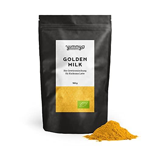 Golden Milk Gewürzmischung für Kurkuma Latte im 100g Beutel   fair gehandelt & handmade   perfekt für Golden Milk
