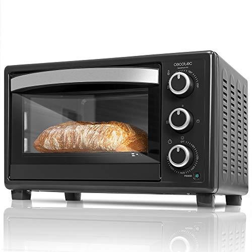 Cecotec Horno Sobremesa Eléctrico Bake'n Toast 550. 1500 W, Capacidad 23 L, 3 Modos, Temporizador hasta 60 minutos, Temperatura regulable hasta 230ºc