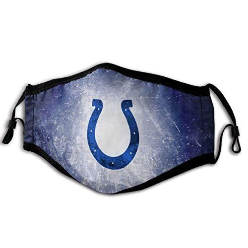 Gesichtsgesichtsabdeckung gesichtsabdeckung Indianapolis Colts Washable Breathable Multi Usageface Abdeckungen Kawaii Face eckung für Männer Frauen