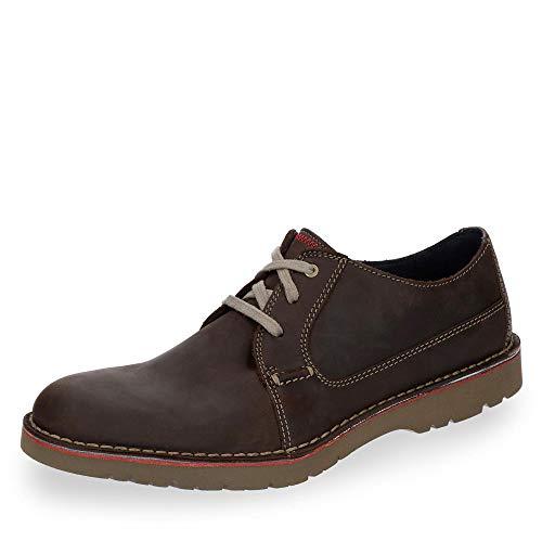 Clarks Vargo Plain, Zapatos de Cordones Derby Hombre, Marrón (Dark Brown Leather), 42 EU