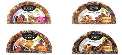 Panes De Frutas 250gr Pack (Higo, Dátil, Naranja, Dátil Chocolate)