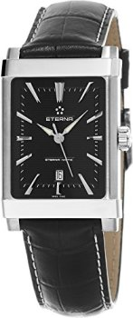 Eterna 1935 Eterna-Matic Women's Black Leather Strap Swiss Automatic Watch 8491.41.41.1117D