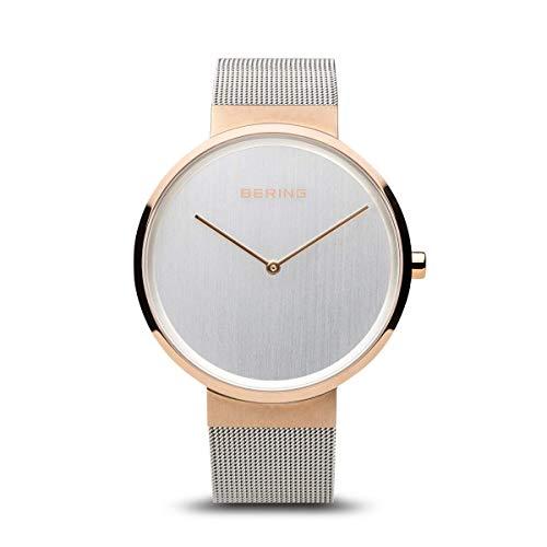BERING Unisex-Armbanduhr Analog Quarz Uhr mit Edelstahl Armband 14539-060