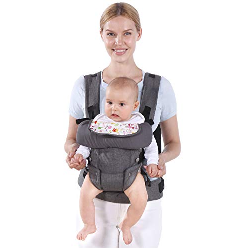 Shsyue Baby Soft Carrier, Ergonomic Design 4 in 1 Infant Sling, Multi-Functional Hug Strap for 7-45lbs3-48 MonthsNewborns and Baby.