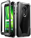 Moto G6 Play Case, Moto G6 Forge Case, Poetic Guardian [Scratch Resistant Back] Full-Body Rugged Clear Hybrid Bumper Case with Built-in-Screen Protector for Moto G6 Play/Moto G6 Forge Black
