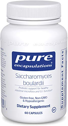 Pure Encapsulations - Saccharomyces Boulardii - Natural Probiotic to Balance Intestinal Flora - 60 Capsules