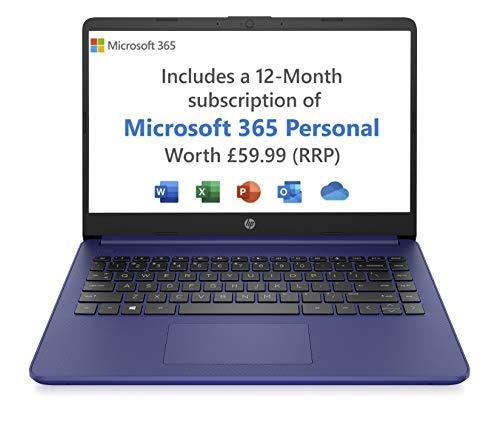 HP Stream 14s-fq0023na 14 Inch Laptop, Blue (AMD Athlon 3020e, 4 GB RAM, 64 GB eMMC, Windows 10 Home...