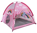 "MountRhino Unicorn Play Tent Playhouse for Girls Indoor Outdoor Pink Princess Castle Kids Play Tent, Portable Kids Pop Up Play Tent for Girl's Imaginative Camping Playground Games & Gift-48""x48""x42"