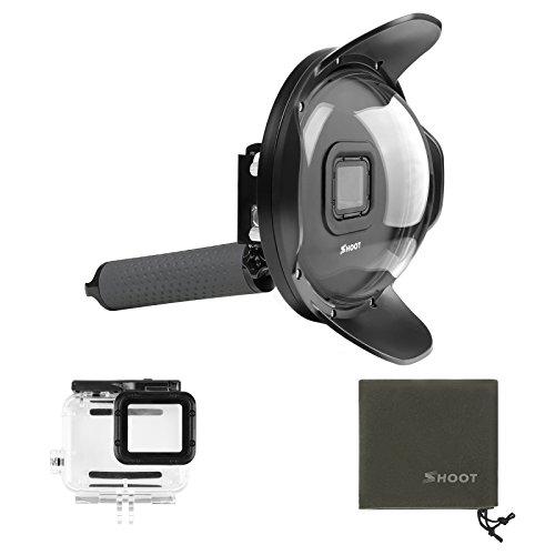 SHOOT Official 4.0 Paraluce Dome Port per GoPro HERO7 Black/6/5 Black/HERO2018 - Custodia Impermeabile,Impugnatura Galleggiante per Fotografia Subacquea Snorkeling Accessori per Immersioni Subacquee