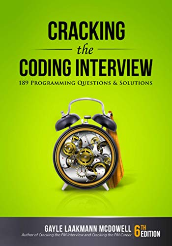 Cracking the Coding Interview, 6th Edition: 189 Programming...