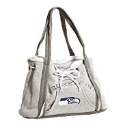 "Officially licensed NFL, NHL, NCAA purse features full-color embroidered team logo This unique purse looks like a miniature hoodie sweatshirt turned into a bag This cotton poly blend bag measures 9.5"" tall x 15.5"" wide x 4"" deep Features fully lined ..."