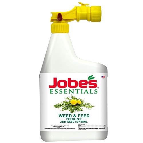 Jobe's 05374W Essentials Weed & Feed Liquid Fertilizer, Natural
