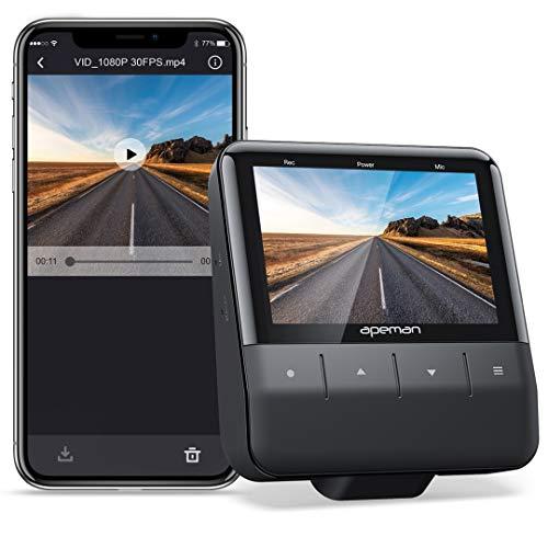 APEMAN Wi-Fi Dash Cam mit App, 1080P Full HD-Autokamera Starvis Sensor,...