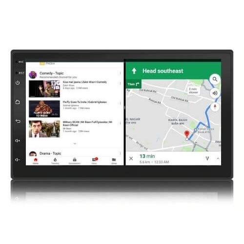 Woodman Neo5 – 7 inch Android Car Stereo (2GB /16GB) Split Screen   Android 9   Night Vision Camera