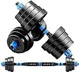 Qinmo Entrenamiento de Fuerza con Barra Conjunto de 2 Hex Goma Pesa de Gimnasia con Asas de Metal Par de 2 Heavy Dumbbell (Color : 15kg)