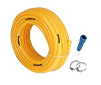 Package Contains: Water Pipe, Free Hose Connector (Pipe Length: 15 Meters, Hose: 0.5 Inch) Usage : use to clean lawns, gardens or corridor as per your requirement. Durable product, good low rate. Heavy Duty Nature Eliminate Kinks, Twists And Tangles ...