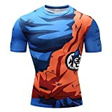 Charmley Dragonball z T-shirt de compression Son Goku T-shirt fonctionnel...
