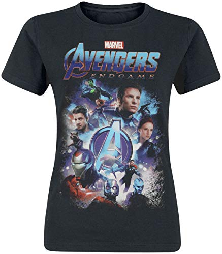 Hasbro Avengers Endgame - Teaser Donna T-Shirt Nero XXL 100% Cotone Largo