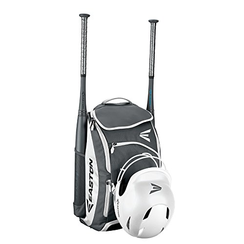 EASTON PROWESS Bat & Equipment Softball Backpack Bag | Designed for Female Athletes | 2019 | White | 2 Bat Sleeves | Vented Shoe Pocket | Top Pocket | Flip Up Mirror | Helmet Strap | Fence Hook